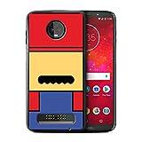 eSwish Hülle/Case für Motorola Moto Z3 Play 2018 / Mario Inspiriert Muster/Retro-Spiele Figuren Kollektion