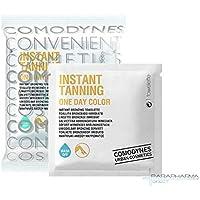 Comodynes–Instant Tanning One Day Color–Toallitas autobronzantes para piernas–Lote de 2x 8toallitas