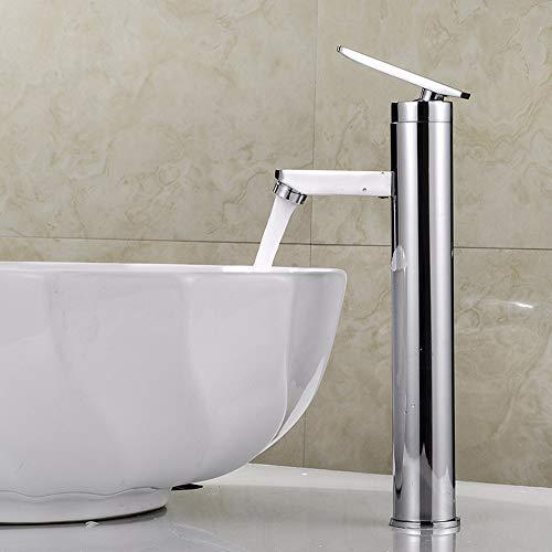 ZHANGZHIYUA Einhebel-Badarmatur Einlochbecken mit heißem und kaltem Wasserhahn,M
