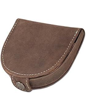 Woodland - Pequeño pequeño monedero hecha de piel de ante naturales, suaves