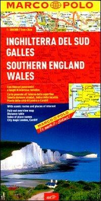 Inghilterra del Sud, Galles 1:300.000. Ediz. multilingue (Carte stradali Marco Polo)