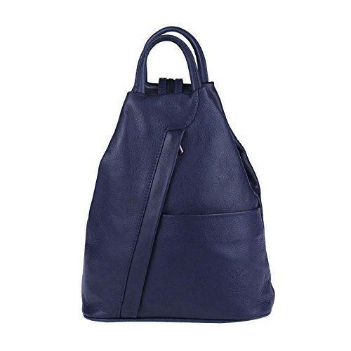 001d88953d0c3 OBC Made in Italy Damen echt Leder Rucksack Lederrucksack Tasche  Schultertasche Ledertasche Daypack Backpack Handtasche Nappaleder