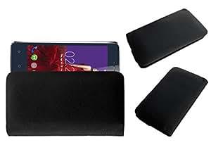Acm Rich Leather Soft Case For Zen Admire Alpha Mobile Handpouch Cover Carry Black