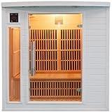 Sauna cabina ad infrarossi sole bianco 2 posti Sn-SOLEILBL2