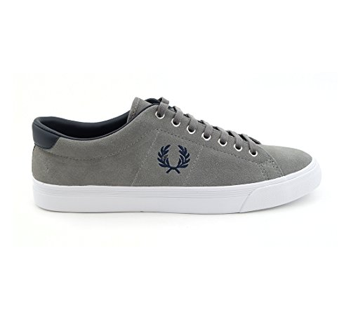 Fred Perry Men's Men's Suede Grey Sneakers In Size 46 Grey