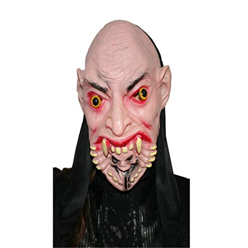 (Halloween Masken,Rosennie Erschreckend Geistermaske Maske Horror Zombie Monster Dämon Totenkopf Schädel Kopfmaske Hochwertigen Für Festival Party Cosplay,Cosplay,Halloween,Kostü (A))