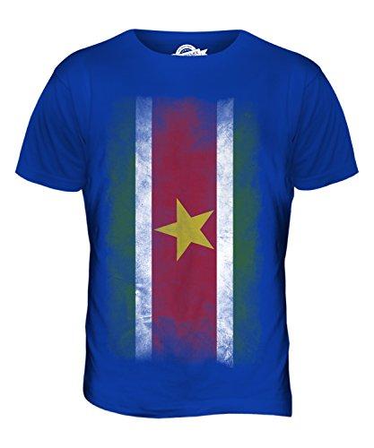 CandyMix Suriname Verblichen Flagge Herren T Shirt Königsblau