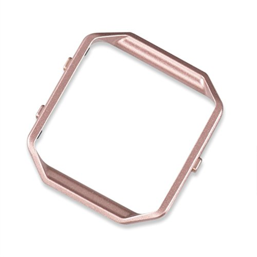 Digital Extension Card (wearlizer Fitbit Blaze Gestell Edelstahl Metall Rahmen Ersatz Pink Gold)