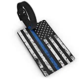 Thin Blue Line Flag USA Luggage Tags ID Convenience Accessioes