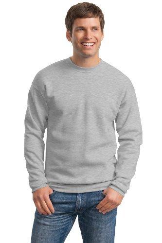 Adult Crewneck Fleece Sweatshirt (Hanes Adult ComfortBlend Crewneck Rib-Knit Fleece Sweatshirt, Light Steel, Large)