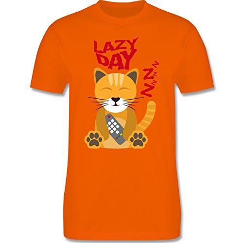 Comic Shirts - Lazy Day - Herren Premium T-Shirt Orange
