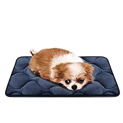Hero Dog Dog Bed Extra Large Washable Crate Mattress 47 Inch, Soft Non Slip Pet Fleece Cushion Pad Blue XL 1
