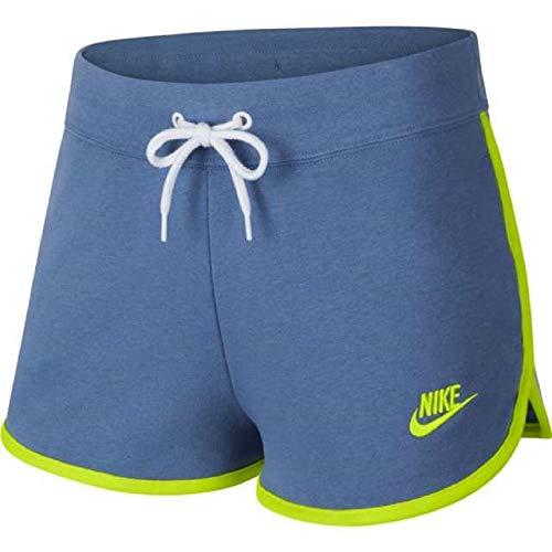 Nike Damen Heritage Short Fleece Indigo Storm Cyber, XS Storm Fleece Shorts