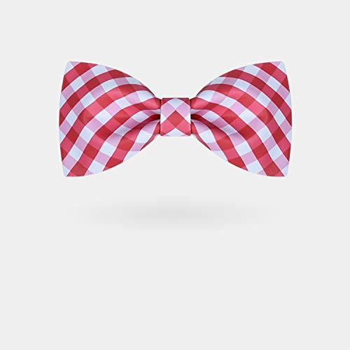 WATERMELON Persönlichkeit Red Plaid Digital Print Neckwear Herren Abendgarderobe Handmade Neckcloth Casual Married Host Krawatte Bow Ties (Red Tie Hosenträger Bow Rot)