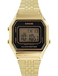 CASIO LA-680WG-1 - Reloj digital de cuarzo, para mujer, color negro y dorado