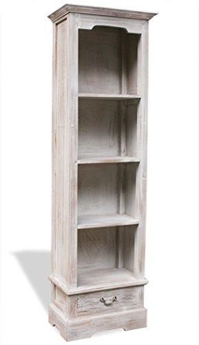 LioLiving®, Bücherregal Inna mit 1 Schublade und 4 Fächern im Vintage-Look (#400121) -
