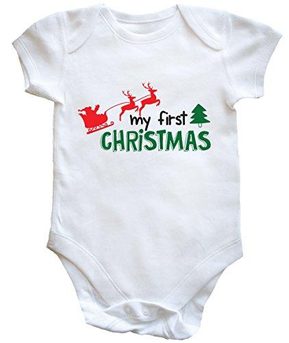hippowarehouse-my-first-christmas-bebe-pour-garcons-filles-blanc-nouveau-ne