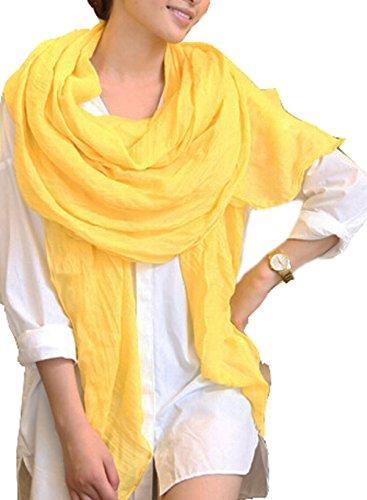 Pashmina amarilla larga para mujer