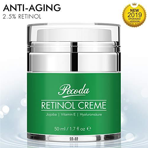 Retinol Feuchtigkeitscreme Creme-2.5% Retinol anti falten/anti aging creme für gesicht und augen. Natürliche Hautpflege-Behandlung crème für Frauen und Männer. 50ml -
