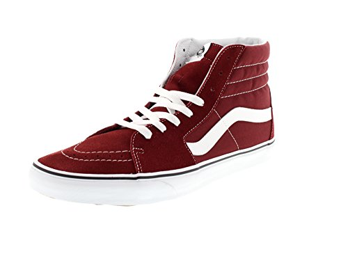 Vans Sk8-Hi, Zapatillas Unisex Adulto, Rojo (Madder Brown/true White), 46 EU