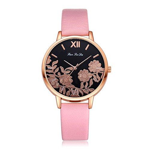 Uhren Damen Armbanduhr Frauen Blumen schnitzen Armbanduhr Quarz Analoge Uhr Mode Uhrenarmband Watch Sportuhr Uhren Retro Armbanduhr,ABsoar - Watches Replica Invicta