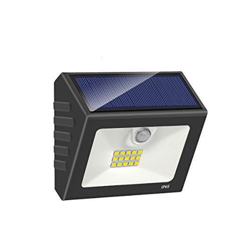 Solarlampen Solarleuchten für Außen, LED Bewegungsmelder Wasserdichte Garten Außenleuchte Solar Wandleuchte Superhelle Reflektor Design für Auffahrt, Hof, Garage, Zaun, Weg und Patio