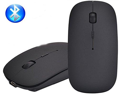 Wireless 2-knopf-bluetooth-maus (Bluetooth Mouse, EONANT 3.0 Portable Maus mit Wiederaufladbare Wireless USB Maus Leise und Ruhig Click für Notebook, PC, Laptop, Computer, Windows / Android Tablet, Macbook (Schwarz))