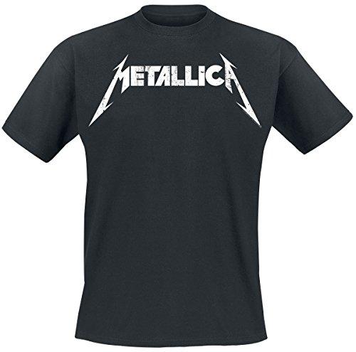 Unbekannt Metallica Textured Logo T-Shirt Schwarz S (Metallica Tour T-shirts)