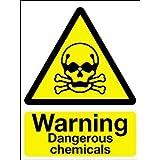 Advertencia de peligro señal de seguridad–advertencia productos químicos peligrosos