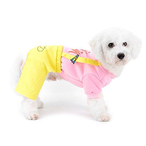zunea Kleine Hunde Sweatshirt Overalls Hosen four-legs Mädchen Jungen Puppy Jumpsuit Pyjama Shirts Pet Cat Chihuahua Hund Kleidung Outfits -