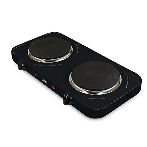 Plaque de cuisson électrique double 2500W - 2 feux 155mm et 185mm PEM HP-212