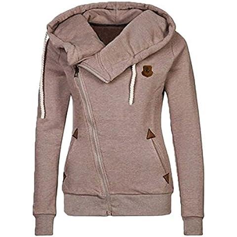 Ecowish - Sudadera con capucha - chaqueta - para mujer