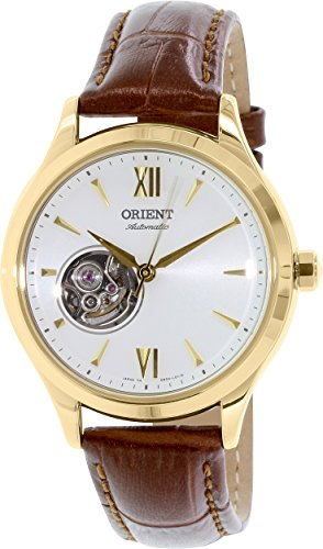 Orient Women's Classic DB0A003W Brown Leather Automatic Watch