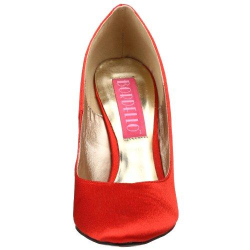 Bordello CAMI01/R/SAT Escarpins Femmes Rouge
