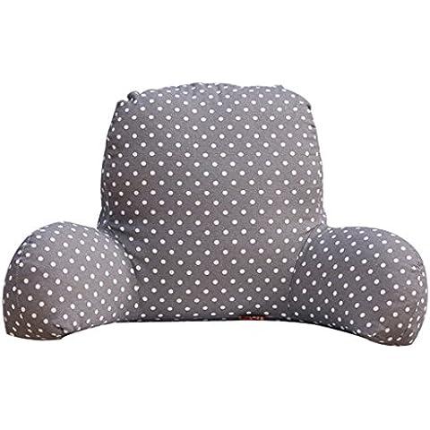 Halovie Almohada lumbar Sofá cama Silla de oficina amortiguador del resto trasera de la ayuda Cojín almohada terciopelo de algodón cubierta de inserción extraíble