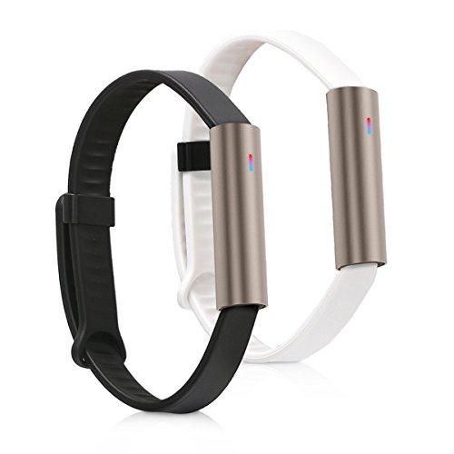 kwmobile Bracelet Misfit Ray - Set 2X Bracelet de Rechange en Silicone pour Fitness Tracker Misfit Ray