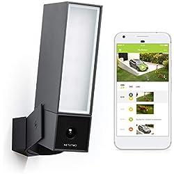 Netatmo Caméra de Surveillance Extérieure Intelligente, WIFI, Eclairage Intégré, Détection Des Mouvements, Vision Nocturne, Aucun Abonnement, NOC01-FR (Presence)