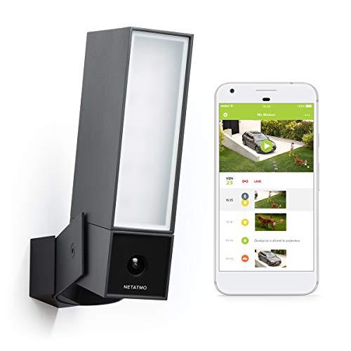 Netatmo Caméra de Surveillance Extérieure Intelligente, WIFI, Eclairage Intégré, Détection Des...