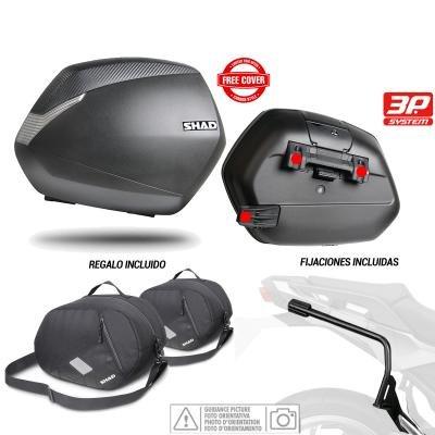 SHAD - KIT-SHAD-36 : Kit fijaciones 3P system y maletas laterales + bolsas internas regalo SH36