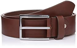 Lino Perros Mens Leather Belt (8903421288724_LMBE00262_85_Brown)