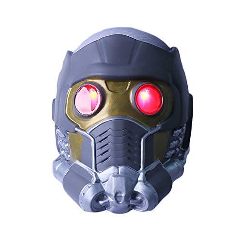 Henxizucun Wächter der Galaxy Star-Lord Helm Maske Halloween Gesichtsmaske Cosplay Männer Erwachsene Teil Maskerade Kostüm Prop,E,OneSize