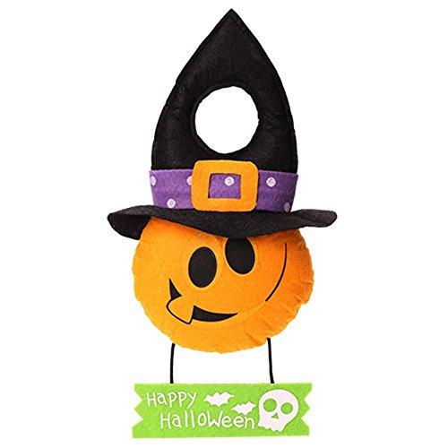 Westeng Halloween Tür hängende Marke Halloween Hexe Kürbis Ghost Door Dekoration Anhänger Lieferungen Szene Dekorationen Mauer Türstange Spoof (Ghost)