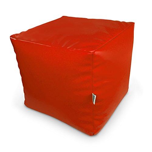 Natalia Spzoo Sitzwürfel aus Kunstleder zum sitzen spielen usw. super leicht (Rot)