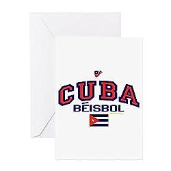 CafePress - CU Cuba Baseball Beisbol - Grußkarte, Notizkarte, Geburtstagskarte, blanko Innenseite matt
