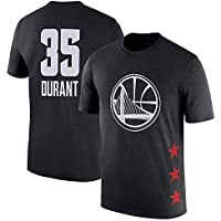 Camiseta de Baloncesto SHPP para Hombre-Golden State Warriors Kevin Durant 35# S -XXXL Uniforme de Baloncesto Azul, Traje de Fiesta Hip-Hop 90S, Gran Regalo para los fanáticos-Black-XL