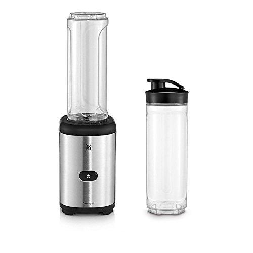 WMF Kult X Mix & Go Smoothie Mini Standmixer/Maker, 300 Watt, mit 2 Mixbehälter/Trinkflasche 0,6l, Tritan Flasche, BPA-frei, bruchsiche