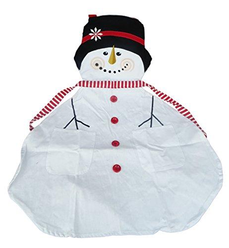 Eine festliche Schneemann-inspirierte erwachsene Küchenschürze - vervollkommnen Sie für das Kochen Ihres Chirstmas Abendessen-In