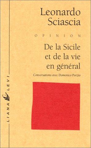 De la Sicile et de la vie en général