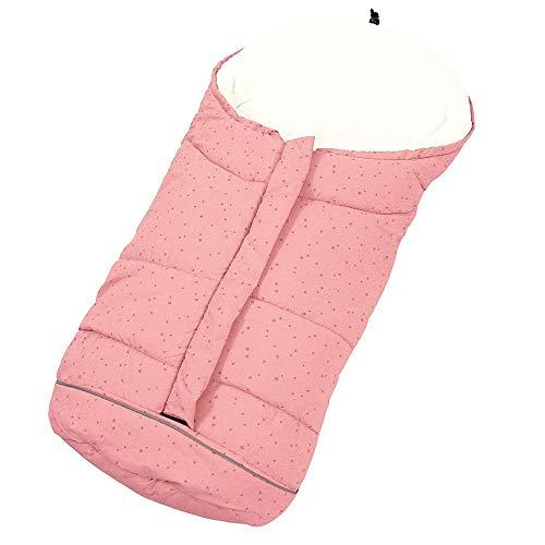 Sacco a pelo Termico Invernale per Passeggino vento impermeabile con 3 cerniere per bambini (rosa)