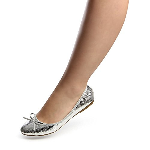 topschuhe24681Femme Ballerine Chaussures basses Argent - Argent